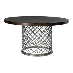 "Bernhardt Interiors - Bernhardt Interiors Hallam Metal Dining Table with Wood Top 54"" 336-771/336-773 - Bernhardt Interiors Hallam Metal Dining Table with Wood Top 54"" 336-771/336-773."
