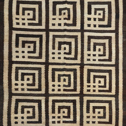"ALRUG - Handmade Beige Oriental Kilim  5' 4"" x 6' 7"" (ft) - This Afghan Kilim design rug is hand-knotted with Wool on Wool."