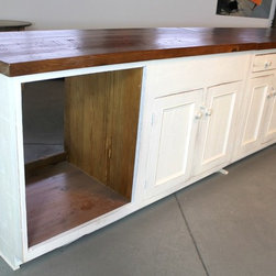12.5ft farmhouse kitchen island with modular option - Made by http://www.ecustomfinishes.com