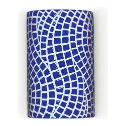 A19 Lighting - A19 Lighting M20302-CB Channels Wall Sconce Cobalt Blue - A19 Lighting M20302-CB Channels Wall Sconce Cobalt Blue