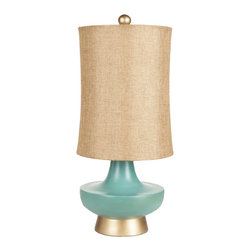 surya - Olly Resin Turquoise Table Lamp - Olly Resin Turquoise Table Lamp