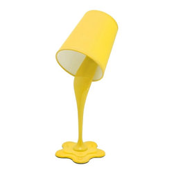 LUMISOURCE - Lumisource Woopsy Lamp, Yellow - Woopsy! No worries, this unique paint bucket lamp gives the illusion of paint spilling. Express your personality with one of the fun and vibrant color options. Add this lamp to a kids room or even a fun office atmosphere for a whimsical appeal. Also seen on page 52.Bulb(s) required: 40W