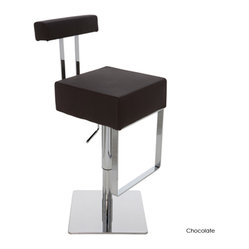 Aria Adjustable Stool, Chocolate, Set of 2