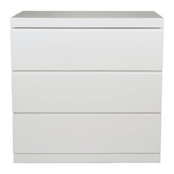 Whiteline - Anna 3 Drawer Single Dresser - High Gloss White - DR1207S-WHT - Shop for Dressers from Hayneedle.com! With a simple square profile and three spacious drawers the Anna 3 Drawer Single Dresser - High Gloss White delivers both style and storage to your bedroom. Built from sturdy engineered wood this dresser has a high gloss white finish.About Whiteline:With a product line that includes prime leather sofas comfortable beds and elegant dining room furniture Whiteline delivers modern and contemporary styles along with cozy comfort. Whiteline has 15 years of experience building furniture along with a worldwide network of skilled manufacturers to help them give you the best value for your money. And their huge collection of designs is sure to have something to suit your contemporary tastes.