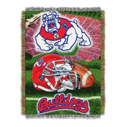 Northwest Company, The - Fresno State University 48-Inch x 60-Inch Tapestry Throw Blanket - This NCAA 48-Inch x 60-Inch Tapestry Throw Blanket is the perfect way to show your school spirit. Woven beautifully and featuring the graphics of your favorite collegiate team, this blanket works great as a room accent, bed covering, or wall-hanging.