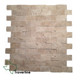 Ivory 1x2 Travertine Split Face - http://www.texastravertine.com