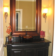 Traditional Powder Room by BJ Armstrong Custom Homes