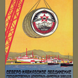 Buyenlarge - The Best Portland Cement 12x18 Giclee on canvas - Series: Soviet Commercial Design