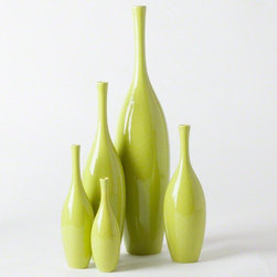 Global Views - Global Views Juggler Vase - Key lime - Juggler Vase in Key Lime by Global Views.Available in X-Small, Small, Medium, Large or X-Large