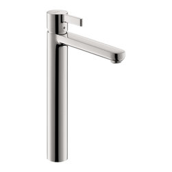 Hansgrohe - Hansgrohe 31020001 Metris S Single Hole Faucet Tall in Chrome - Single Hole Faucet Tall in Chrome belongs to Metris Collection by Hansgrohe The Hansgrohe Metris S Single Hole 1-Handle Mid-Arc Bathroom Faucet in Chrome lends a clean, charming look to your bath or powder room while providing a mid-arc spout and chrome finish for an appealing design. A single handle delivers smooth performance and easy operation.  Faucet (1)