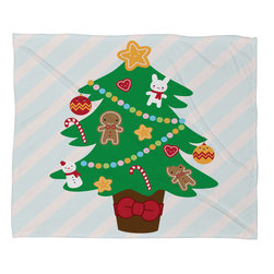 DENY Designs - DENY Designs Marceline Smith Cute Christmas Tree Fleece Throw Blanket - This DENY fleece throw blanket may be the softest blanket ever! And we're not being overly dramatic here. In addition to being incredibly snuggly with it's plush fleece material, you can also add a photo or select a piece of artwork from the DENY Art Gallery, making it completely custom and one-of-a-kind! And when you've used it so much that it's time for a wash, no big deal, as it's machine washable with no image fading. Plus, it comes in three different sizes: 80x60 (big enough for two), 60x50 (the fan favorite) and the 40x30. With all of these great features, we've found the perfect fleece blanket and an original gift!