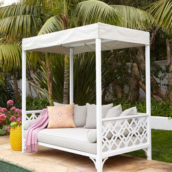Chinois Daybed - I adore this beautiful outdoor bed; it's so over-the-top glam!