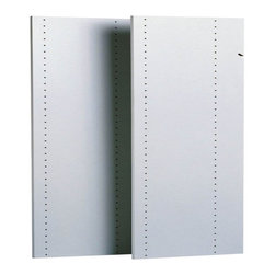Easy Track - Easy Track Closet 2 Count 48 in. White Vertical Panels - RV1447 - 2180-2186 - Shop for Closet from Hayneedle.com! About Easy Track Easy Track is designed to you command your closet like never before. With a single wall-mounted rail and an endless array of cabinets hangers racks and more the Easy Track system let you put everything in its right place. Begin with a starter kit and expand from there. When your needs or space change so does your Easy Track closet system. They're great in closets from the basic to the walk-in and they also provide amazing storage solutions in laundry rooms craft rooms and more. Get Easy Track and see how simple your storage can be.