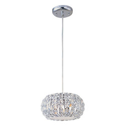 ET2 Contemporary Lighting - ET2 Contemporary Lighting E21803-20PC Bijou 3 Light Pendants in Polished Chrome - Bejeweled in thousands of crystals over gleaming K9 chrome, Bijou glitters with the unmistakable radiance of rare diamonds. Encasing warm, soft glow within, the smooth orbs of chrome come to life as light shimmers and dances off the crystal-encrusted surface. Whether pendant, sconce, or flush mount, Bijou adorns the room in beauty and richness.
