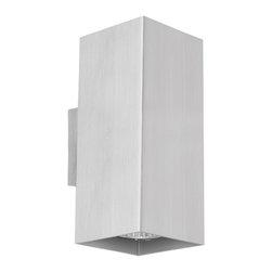 EGLO - Eglo 87019A Aluminium 2X50W Wall/Ceiling Light - EGLO 87019A Aluminium 2x50W Wall/Ceiling Light