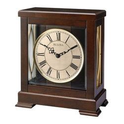 Bulova - Victory Mantel Clock with Harmonic Triple Chime Movemen - Solid hardwood