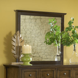 Domusindo - Modern Shaker Truffle Solid Mahogany Framed Mirror - This design features clean lines and updated styling for a fresh take on classic Shaker furniture. The mirror frame is crafted entirely from Mahogany solid wood in a rich truffle finish that can be wall or dresser mounted.