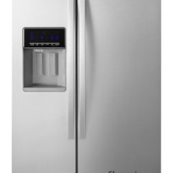 Whirlpool - WRS576FIDBW 26 cu. ft. Energy Star Standard Depth Side-by-Side Refrigerator with - Maximize frozen food storage with the Whirlpool side-by-side refrigerator39s In-Door-Ice Plus system It creates 30 more usable space in the freezer and offers a bin that tilts out or can be removed and placed on the counter to make filling glasses pi...