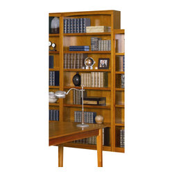 Atlantic Furniture - Atlantic Furniture 84 Inch Bookcase in Caramel Latte - Atlantic Furniture - Bookcases - H80077 - The Atlantic Furniture Bookcase is a simple and versatile way to store your books and other media. Simple in its design, this bookshelf brings tasteful organization to a living room, bedroom or home office.