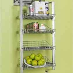 Orginnovations PegRail 18 in. Large Basket Set - Have all the groceries you need in one place with the Orginnovations PegRail 18 in. Large Basket Set. This rack comes with four wire baskets and is made of commercial grade extruded aluminum. A perfect modern rack for your kitchen.About Orginnovations Inc.With a vast selection of storage solutions for your closets, kitchen, office, utility room, and even your wine collection, Orginnovations Inc. looks to provide the best in quality materials, design, and construction. Their storage solutions are easy to install, functional, stylish, flexible, and deliver heavy duty weight capacity. They have excellent customer service and over 40 authorized dealers throughout the US. They even offer custom sizing on closets.