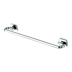 Geesa - 24 Inch Chrome Towel Bar - Towel rail 23.4 inch. Chrome plated brass. Towel rail for a trendy master bathroom. Decorative 24 inch towel rack. High-Quality brass, finished in chrome. Made by Geesa in Netherlands.