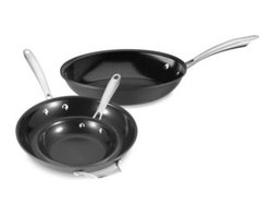Cuisinart - Cuisinart GreenGourmet Non-Stick Hard Anodized Skillet - This stylish non-stick cookware by Cuisinart has a hard anodized pan construction that provides quick and even heat distribution. Its heat conductivity requires less energy to maintain cooking temperature.