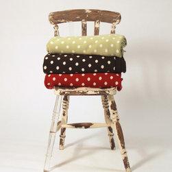 Polka Dot Throw - These polka dot throws look so amazingly cozy.