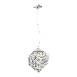 Trans Globe - Trans Globe 4 Light Pendant in Polished Chrome - Details: