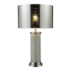 Dimond - Mont Alto Chrome and Mirror Table Lamp - -Three way switch  Dimond - D1596