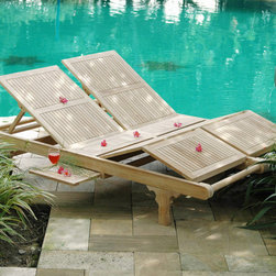 Be Furnished - Acapulco Double Teak Lounger (GL06Dss) - On the Acapulco Double Teak Lounger you will have double the fun.