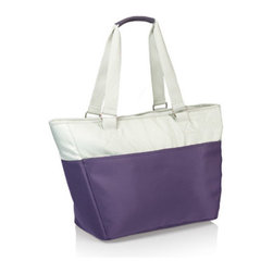 Picnic time - Hermosa Insulated Tote Bag- Aviano - The Hermosa from Picnic Time's Aviano Collection is so sleek and sophisticated looking, no one would ever suspect it's an insulated cooler tote. With its polyester microfiber exterior and heat-sealed water-resistant interior liner, the Hermosa is easy to clean and designed to hold anything from your food items to personal items such as damp bathing suits and beach towels. An added security pocket on the exterior provides quick access to keys and other valuables. 24-can capacity.