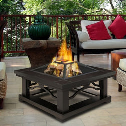 Real Flame Crestone Fire Pit - Your backyard will be the envy of your neighborhood the first time you invite friends over to relax by the inviting warmth of this Real Flame Crestone Fire Pit. This gel fire pit is full of beautiful textures and materials, and features stunning details. You'll be enjoying this for years as it can withstand extended outdoor exposure in any climate, in any season.