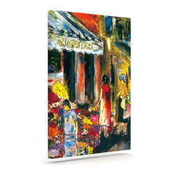 "Kess InHouse - Josh Serafin ""Alimentari"" Multicolor Painting Wrapped Art Canvas (8"" x 10"") - Bring your outdoor patio to life with this artistic outdoor canvas wrap featuring gorgeous artwork by KESS InHouse. These canvases are not only easy to hang and remove but also are the perfect addition to your patio collection. These canvases are stretched around a wooden frame and are built to withstand the elements and still look artistically fabulous. Decorating your patio and walls with these prints will add the splash of art and color that is needed to bring your patio collection together! With so many size options and artwork to choose from, there is no way to go wrong with these KESS Canvas Wraps!"