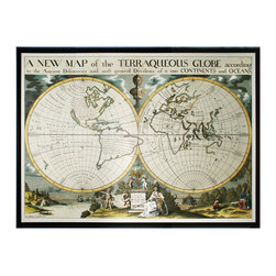 Sterling - Sterling 10222-S1 Map Of Terrqueous Globe - Sterling 10222-S1 Map Of Terrqueous Globe