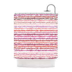 "Kess InHouse - Nandita Singh ""Blush Stripes"" Pink Striped Shower Curtain - Finally waterproof artwork for the bathroom, otherwise known as our limited edition Kess InHouse shower curtain. This shower curtain is so artistic and inventive, you'd better get used to dropping the soap. We're so lucky to have so many wonderful artists that you'll probably want to order more than one and switch them every season. You're sure to impress your guests with your bathroom gallery in addition to your loveable shower singing."