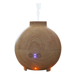 Metal Ware Corp. - Spa-Pro Aromatherapy Diffuser - Spa-Pro Aromatherapy Diffuser - Large capacity reservoir holds 600ml of water for 10-18 hours of operation. Adjusts for either low or high mist output. Offers a soothing, ambient mood lighting. Portable water tank for easy refilling. Safety system: automatic shut off when water is empty. Add liquid aromatic scents to the water for therapy needs (optional). Offered in an imitation white oak finish. For use in therapeutic atmosphere or home use.