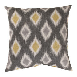 Pillow Perfect - Rodrigo 16.5-Inch Throw Pillow in Graphite - - 100% Cotton  - 100% Virgin Recycled Polyester Fill  - Sewn Seam Closure  - Spot Clean Only  - Made In USA Pillow Perfect - 476582