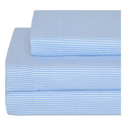 Tommy Hilfiger Licensing Inc - Tommy Hilfiger Flannel Twin Sheet Set Ithaca Stripe Bedding - Features: