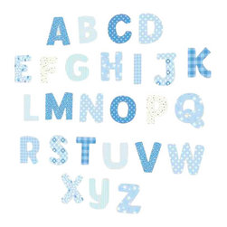"FunToSee - Nursery Alphabet Wall Decals, Blue - Decorate your little boy's nursery, bedroom or playroom with cute Alphabet Nursery Wall Decals filled with cute patterns in shades of blue. The Alphabet Wall Decal pack contains 65 nursery wall letters - 1 x uppercase set, 1 x lowercase set plus extra popular letter wall decals. Uppercase letter decals measure 3.75"" and lowercase letter decals measure 2"" tall. Create a feature wall of tumbling letters, write your little boy's name on the wall or furniture or use to teach the alphabet. FunToSee Alphabet Wall Decals can also be repositioned, and they can be wiped clean with a damp cloth. When you are ready for a new look, nursery wall decals peel off easily and cleanly. As the baby grows, coordinating with matching 'Blue Collection' Pennant or Steam Train wall decals from FunToSee which can be added to theme the whole nursery, bring a playroom to life or create a gorgeous nursery feature. FunToSee children's wall decals are proudly made in the UK. FunToSee was founded in 2001 by a mum looking for something imaginative and yet simple to use to decorate her first child's nursery. Over a decade later FunToSee have become a trusted and recognized nursery wall decor brand all over the world. Instructions: Simply open the nursery wall decal kit, peel off a decal and apply the wall decal to a clean, dry and flat surface. Use a soft cloth to smooth over the entire nursery decal image, especially the decal edges. To reposition or remove the decal from nursery walls, peel the decal off the wall slowly. Stick the decal back onto the nursery decal backing sheet to store for future use or when moving the nursery decal to a new location."