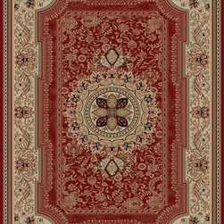 "Concord Global - Concord Global Ankara Chateau Red Country French Medallion 3'11"" x 5'5"" Rug (652 - The Ankara collection is made of heavy heat-set olefin and has the look and feel of an authentic hand made rug at a fraction of the cost. New additions to the line include transitional patterns that are up to date in the current fashion trend. Made in Turkey"
