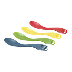 Lite My Fire Spork - One of my lunch boxes came with a spork, and now I don't see the need for anything else, except chopsticks on occasion. This spork also has a knife edge, so I foresee swapping out the whole silverware drawer for these.