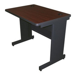Marvel Pronto School Training Table with Modesty Panel Back - 36W x 24D - Well-chosen furniture, like this desk, can create a learning-friendly environment. The Marvel Pronto School Training Table with Modesty Panel Back - 36W x 24D is designed to be functional, with first-rate wire management feature for convenience of use. This desk has a melamine laminated top, with grommets and powder-coated finish for durability. In addition, as it is approved by GREENGUARD, this desk is a child-friendly and environment-friendly option. Made in the USA, this table is perfect as training room furniture.