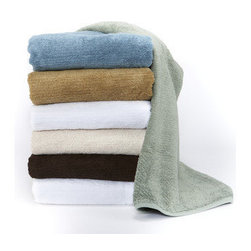 Towels By GUS - Soft Touch Organic Cotton 6-Piece Towel Set, White, 6 Piece Set - Please your senses. These towels come in an assortment of eye-catching colors. Double-sided looping results in an extra plush feel and desirable quick drying. Made from 100% organic Turkish cotton and detailed with a cleanly designed 4 inch vertical detailing, the decadent feel and beautiful color palette makes these towels a must for your bathroom. 6-piece set includes 2 bath towels, 2 hand towels and 2 wash cloths.
