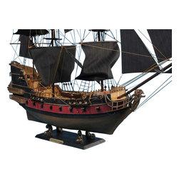 "Handcrafted Model Ships - Black Bart's Royal Fortune Limited 36"" - Black Sails - Sold fully assembled"