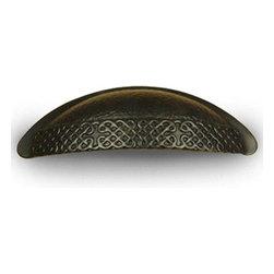 Century Hardware - Zine Die Cast - Cup Pull - Weathered Bronze (CENT29253-WZ) - Zine Die Cast - Cup Pull - Weathered Bronze (CENT29253-WZ)