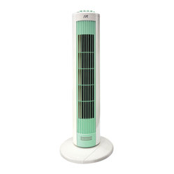 Sunpentown - Tower Fan with Night Light - Stylish and functional, this unit fits discreetly in room corners and small spaces. Provides superior airflow and circulation. Vertical spinning drum oscillates 70 for wide air distribution. Features quiet operation, night light and timer.
