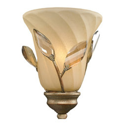 Golden Lighting - Beau Jardin Swirled Mist Glass Shade - Bulb not included. Swirled Mist glass emits dawn-like glow. Round shape. Rose gold color. 6.25 in. Dia. x 5.5 in. H. Warranty
