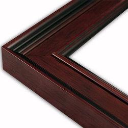 The Frame Guys - Wide Classic Dark Mahogany Picture Frame-Solid Wood, 11x14 - *Wide Classic Dark Mahogany Picture Frame-Solid Wood, 11x14