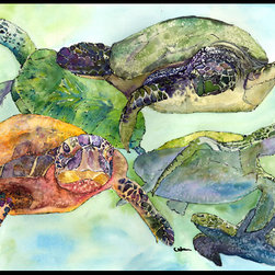 Caroline's Treasures - Loggerhead Turtle Family Indoor Or Outdoor Mat 18X27 8549Mat - Loggerhead Turtle Family Indoor or Outdoor Mat 18x27 8549MAT INDOOR / OUTDOOR FLOOR MAT 18 inch by 27 inch Action Back Felt Floor Mat / Carpet / Rug that is Made and Printed in the USA. A Black binding tape is sewn around the mat for durability and to nicely frame the artwork. The mat has been permenantly dyed for moderate traffic and can be placed inside or out (only under a covered space). Durable and fade resistant. The back of the mat is rubber backed to keep the mat from slipping on a smooth floor. Wash with soap & water.