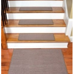 "Dean Flooring Company - Dean Premium Carpet Stair Treads - Keaton Taupe (13) 30"" x 9"" Plus a 2' x 3' Mat - Dean Premium Carpet Stair Treads - Keaton Taupe (13) 30"" x 9"" Plus a Matching 2' x 3' Landing Mat : Premium Carpet Stair Treads by Dean Flooring Company. Color: Keaton Taupe. Material: Polypropylene. Edges: Finished (serged) with attractive color matching yarn. The size of each tread measures approximately 30"" x 9"". The set includes 13 stair treads plus a matching 2' x 3' landing mat.  Easy to spot clean and vacuum. Helps prevent slips on your hardwood stairs. Great for helping your dog easily navigate your slippery staircase. Reduces noise. Reduces wear and tear on your hardwood stairs. Attractive: adds a fresh new look to your staircase. Easy DIY installation with double sided carpet tape or (not included - sold separately). Add a touch of warmth and style to your home today with stair treads from Dean Flooring Company!"